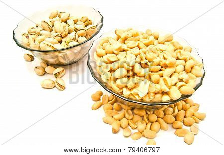 Two Dish With Tasty Nuts