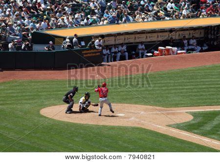 Angels Hideki Matsui Lifts Foot As He Prepares To Swing