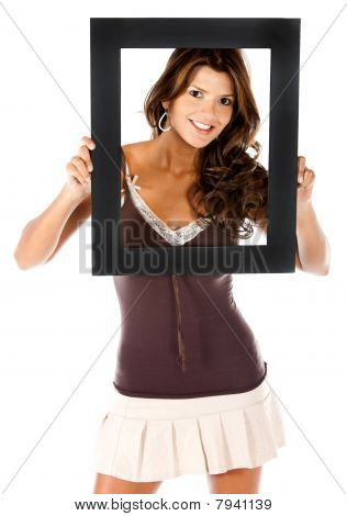 Beautiful Woman With A Frame