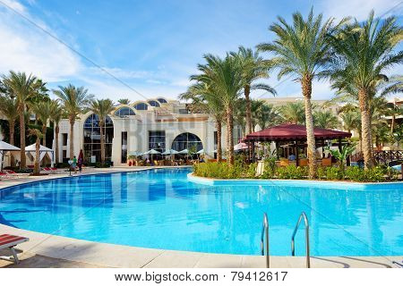 Sharm El Sheikh, Egypt -  November 30: The Tourists Are On Vacation At Luxury Hotel On November 30,