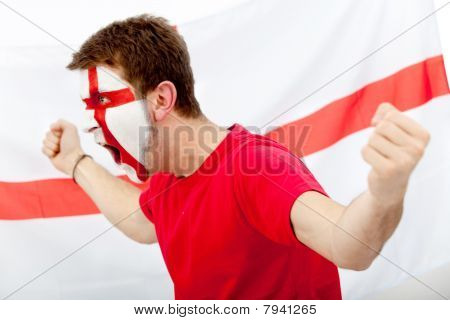 English Flag Portrait