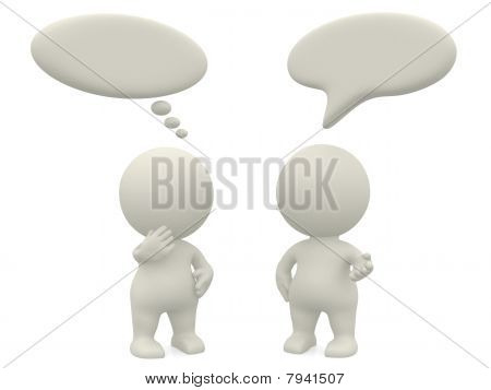 3D People With Talk Bubbles