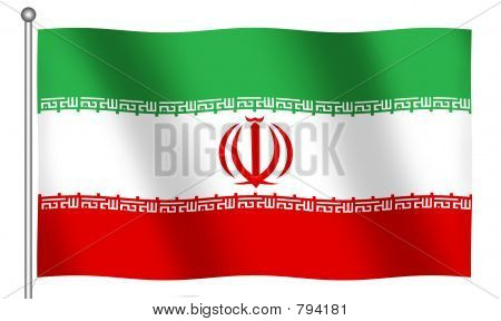 Flag of Iran Waving
