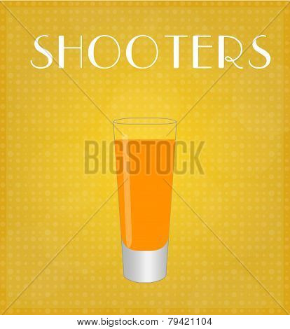 Drinks List Shooters With Golden Background
