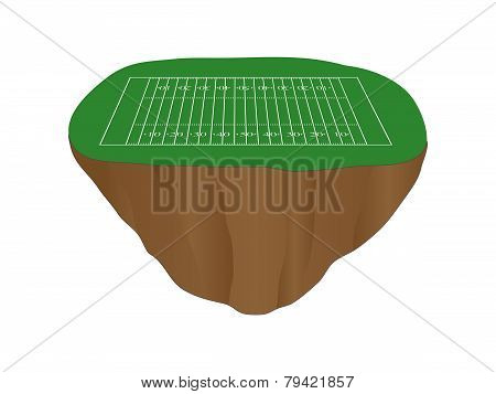 American Football Field Floating Island
