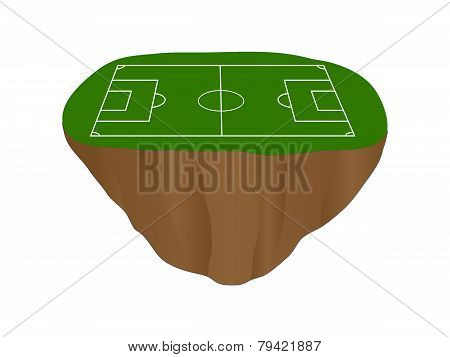 Football Field Floating Island