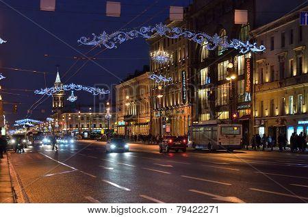 Nevsky Prospect In St Petersburg, Russia