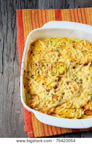 Turnip And Bacon Gratin