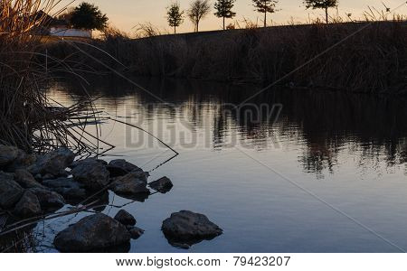 River at sunset