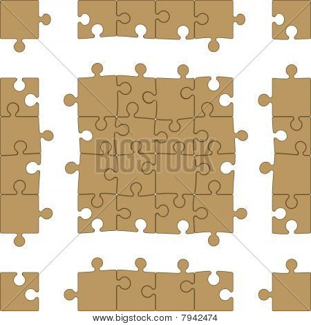 Blank Puzzle Seamless Pattern