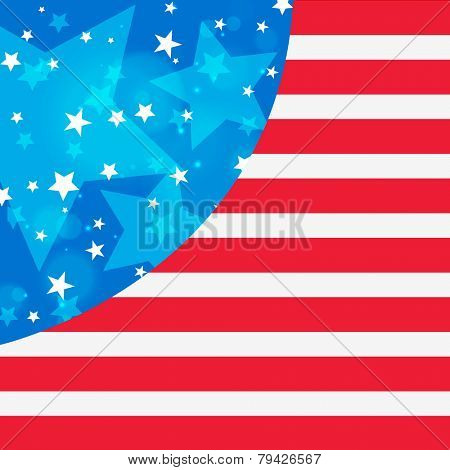 Creative flag design of United State of America for Presidents Day celebration.