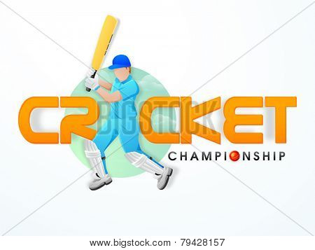 Young batsman in playing action with red ball for Cricket Championship.