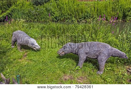 Realistic Model Of Prehistoric Mammals