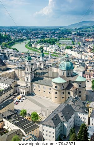 View over old town in Salzburg, Austria