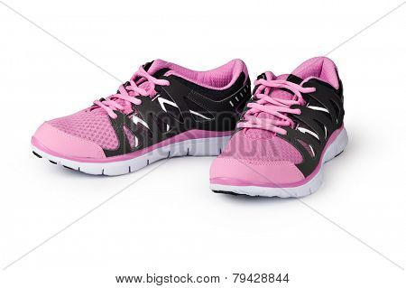 New running shoe isolated on white background