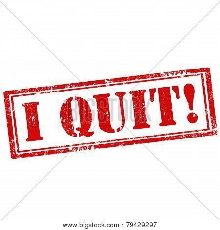 I Quit!-stamp