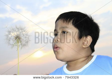 Boy Blasen Samen entfernt