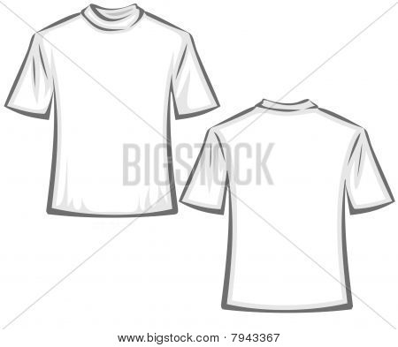 Blank T-shirts illustration