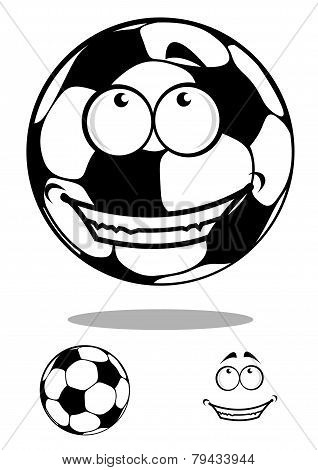 Soccer Ball Character Happy Smiling