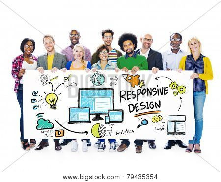 Responsive Design Internet Web Online People Banner Concept