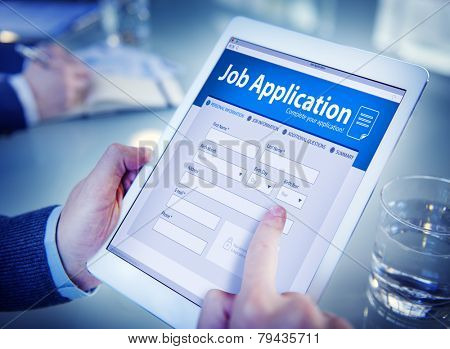 Job Application Hiring Employment Digital Tablet Browsing Concept