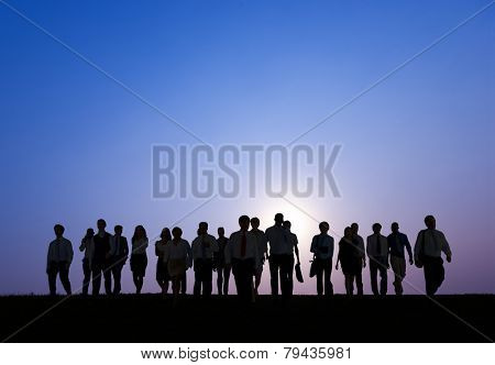Business People Corporate White Collar Worker Outdoors Concept