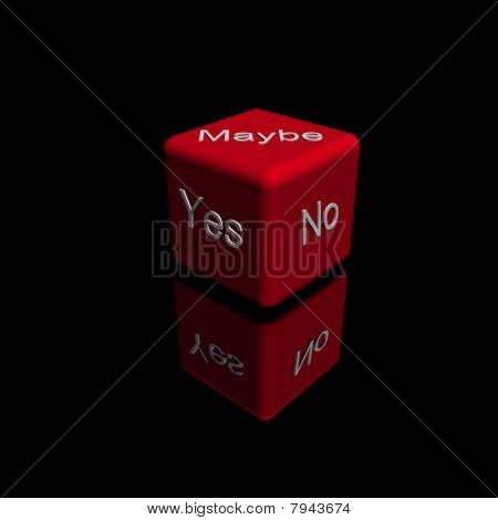 Red Dice With Your Choice (Yes, No, Maybe)