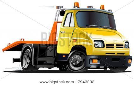 caminhão de reboque de desenho de vetor