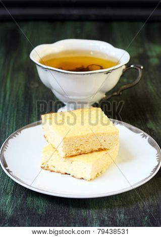Squares Of Cheesecakes