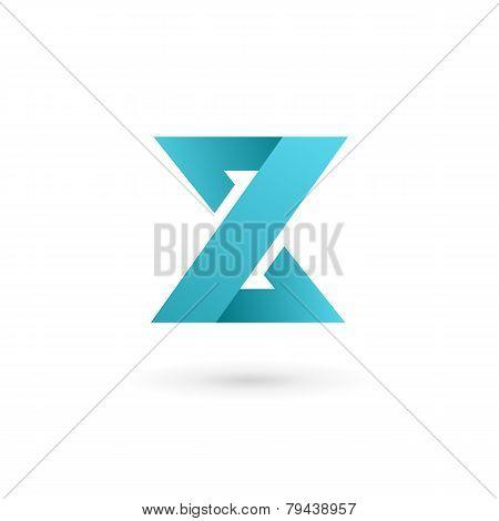 Blue Geometric Letter Z Logo Icon on white
