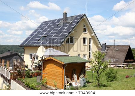 House With Photovoltaic Panels