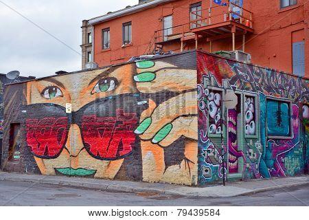 Street art Montreal woman