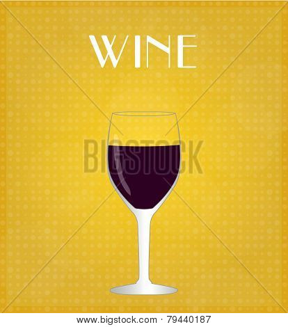 Drinks List Red Wine With Golden Background