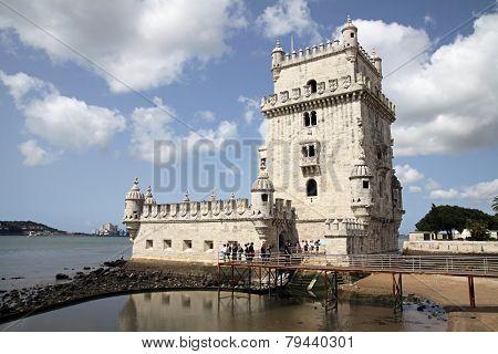 Symbol Of Lisbon - Belem Tower Or Tower Of St. Vincent