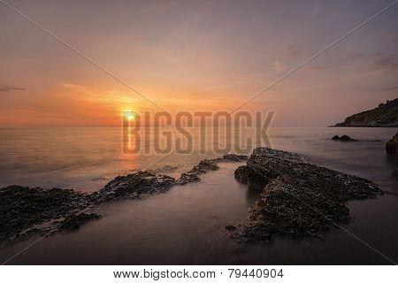 Sunset at Khao-Laem-Ya National Park