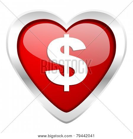 dollar valentine icon us dollar sign