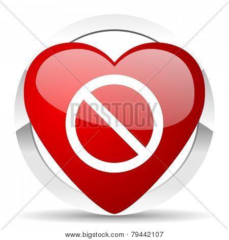 access denied valentine icon