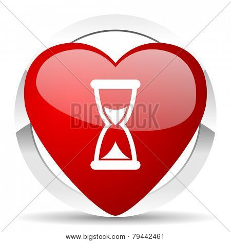 time valentine icon hourglass sign