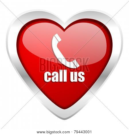 call us valentine icon phone sign