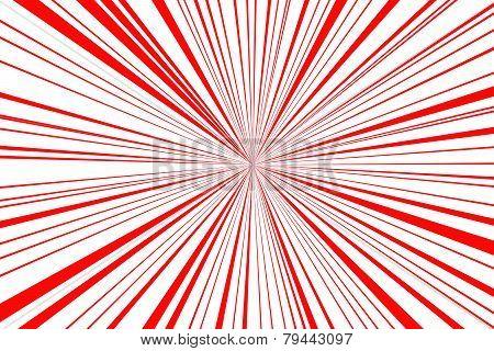 Red Retro Style Sunburst Background