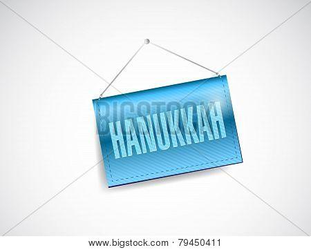 Hanukkah Hanging Banner Illustration