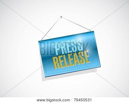 Press Release Hanging Banner Illustration