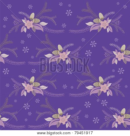 seamless winter floral flower texture