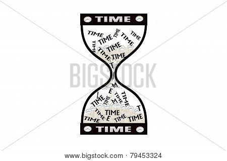 Hourglass Time Concept, Time Goes By