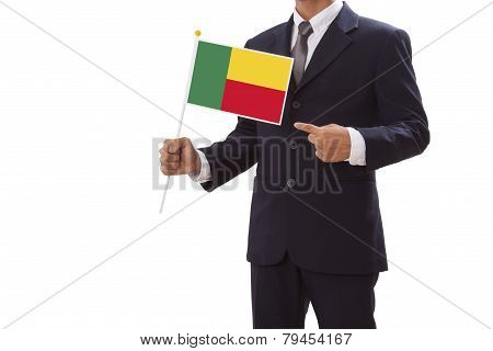 Businessman with Benin Flag