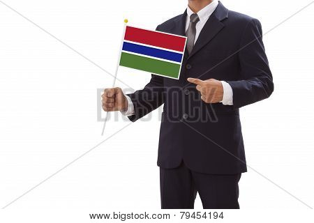 Businessman with Gambia Flag