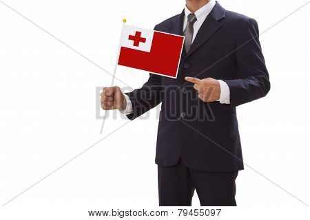 Businessman with Tonga Flag