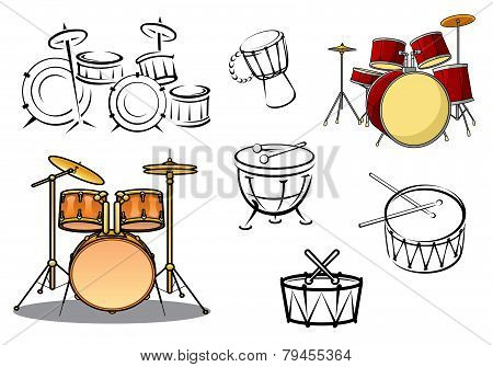 Percussion Instruments Icons