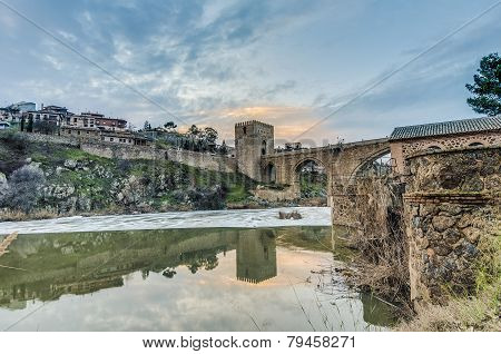 Alcantara Bridge At Toledo, Spain