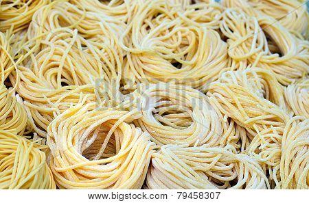 Raw, Freshly Made Spaghetti